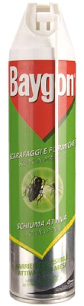 Baygon cockroaches<br> and ants active<br>foam 400 ml
