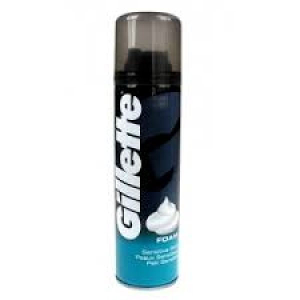 GILLETTE SHAVE<br> FOAM 300ML P /<br>SENSITIVE