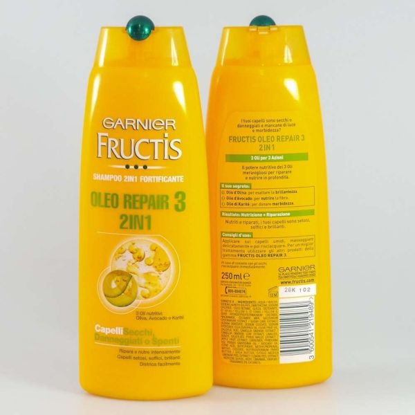 FRUCTIS SHAMPOO<br> 250ML 2IN1 OLEO<br>REPAIR 3