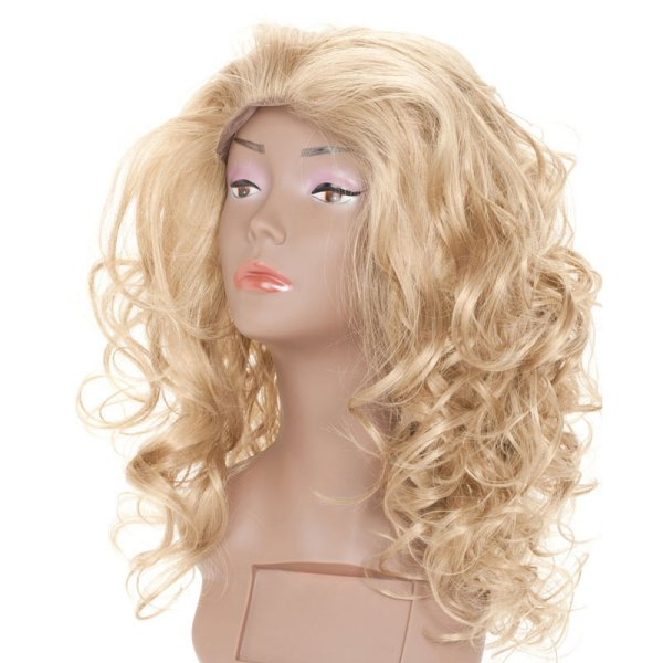 Front Lace<br> synthetic hair wig<br>long curly blond