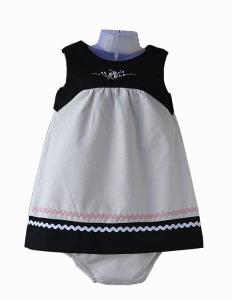 Pique dress for babies