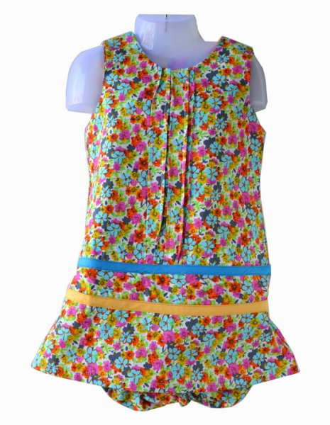 Multicolored dress<br>for babies