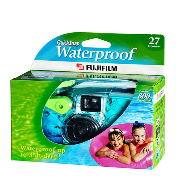 Fuji QuickSnap camera underwater to 75%!