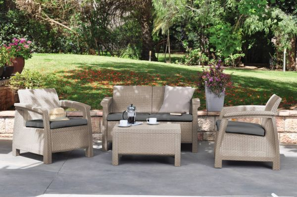 Corfu polyrattan synthetic rattan garden furniture