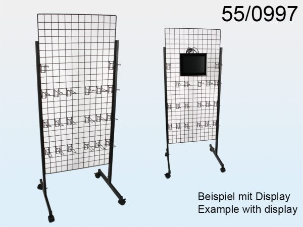 Metal display<br> stand for various<br>articles 162x60cm
