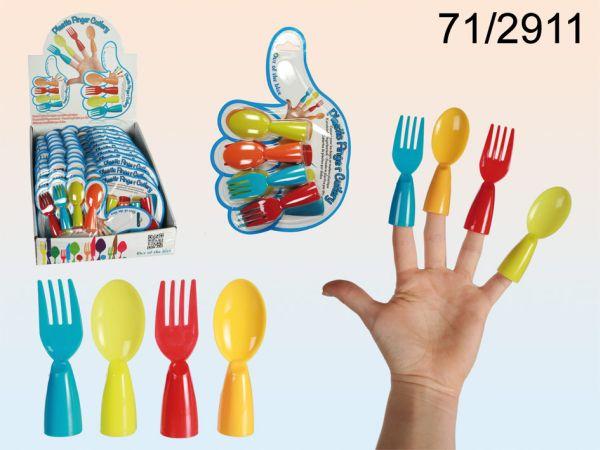 -Kunststoff<br> Fingerbesteck, ca.<br>8,5 cm
