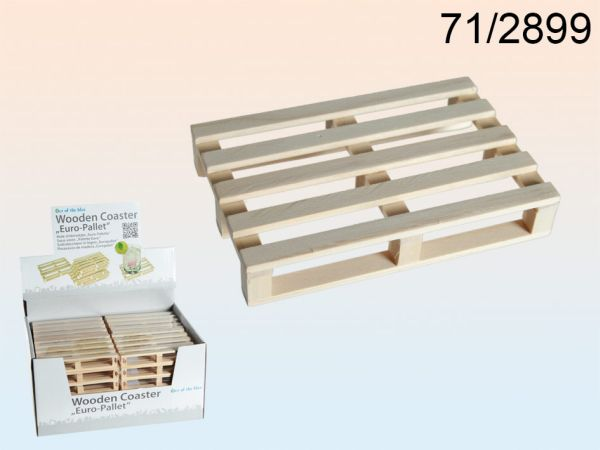 Holz-Untersetzer<br> für Trinkglas,<br>Euro-Palette,