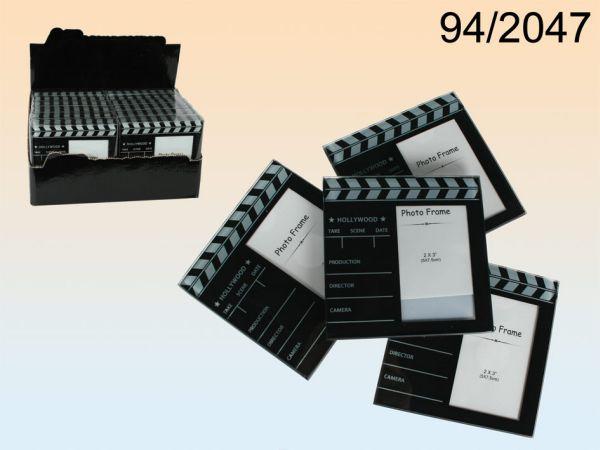 Glas-Untersetzer,<br> Filmklappe, für<br>Foto 5 x 8 cm