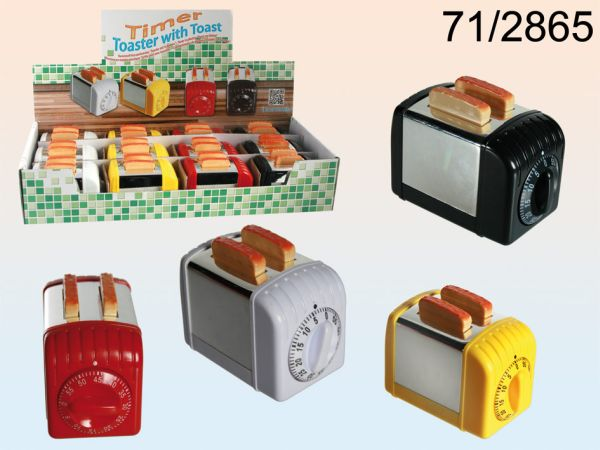 Plastic kitchen<br> timer, toaster<br>with slices