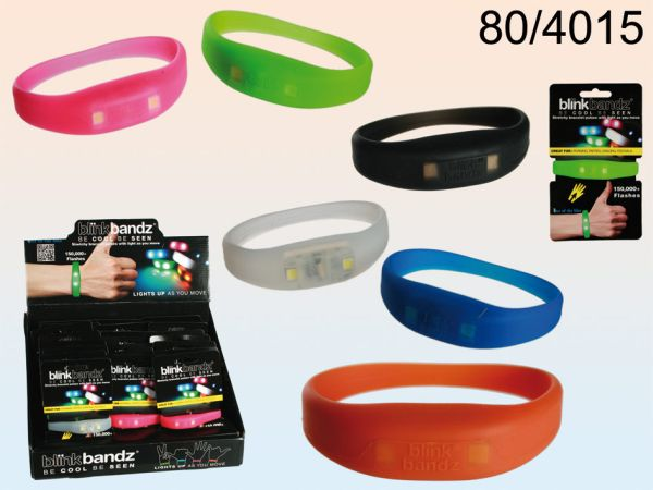 Silicone Bracelet<br>Light with 2 LEDs