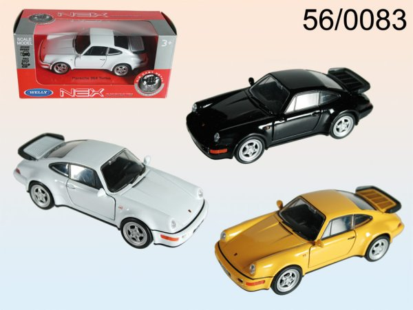 Model car with<br> pull-back motor,<br>Porsche 964 Turbo