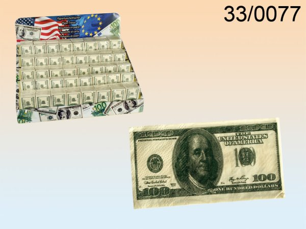 Tissues, $ 100<br>note, 3-ply