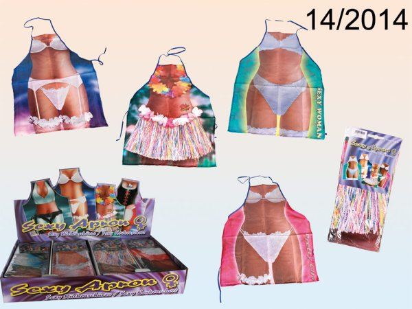 Sorted kitchen<br> apron, sexy woman,<br>4-fold