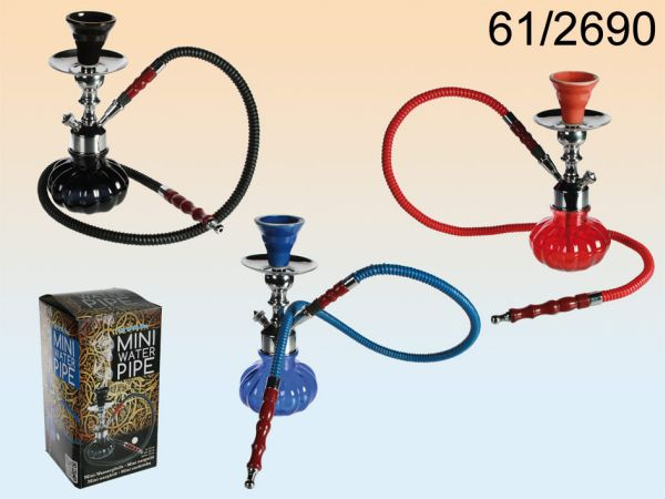 Mini hookah, about<br> 25 cm, 3-Color<br>Assorted