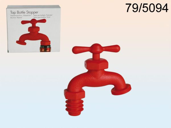 Plastic wine<br> bottle stopper,<br>faucet,
