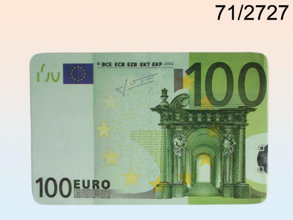 -Melamin<br> Frühstücksbrett,<br>100 €-Note,