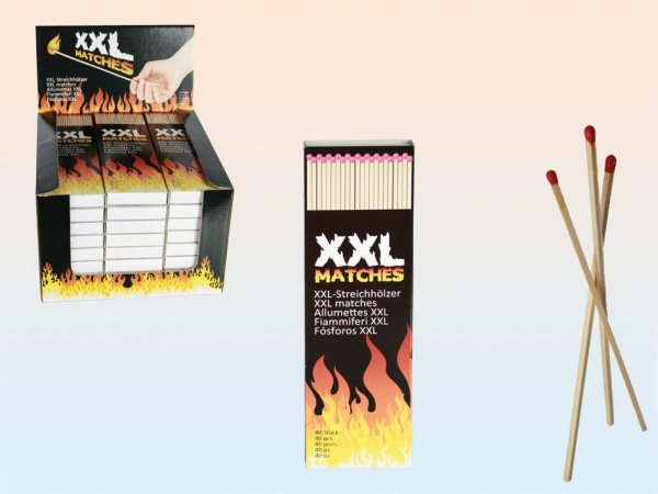 Matches XXL, 20<br> cm, 40 pieces in<br>cardboard box