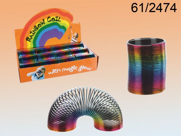 Plastic spiral,<br>rainbow, about 5cm