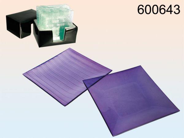 Glasdekoschale,<br> purple, approx 20<br>x 20 cm