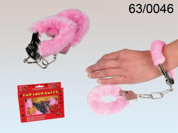Pinkfarbene<br>Plüsch-Handschellen