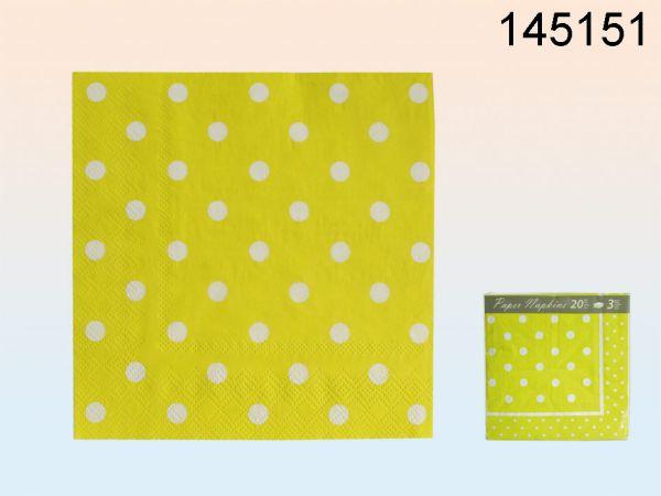Papier-Servietten<br> (grün mit weißen<br>Punkten)