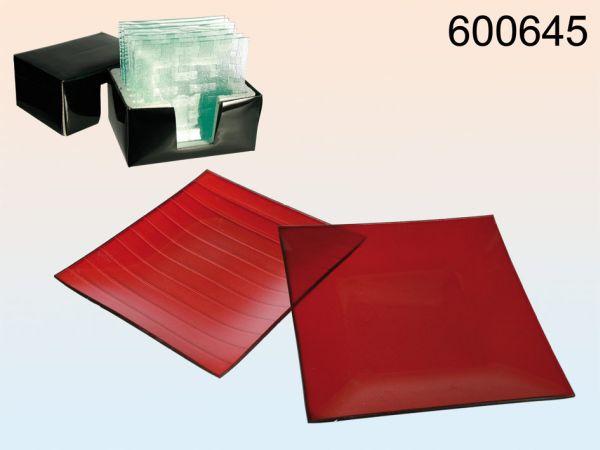 Glasdekoschale,<br>red, 20 x 20 cm