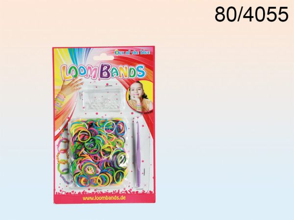 Rubber Bracelet<br> Set, Loom bands<br>IV, 8 colors