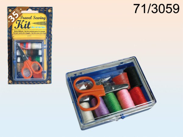 Travel sewing kit,<br>35 pieces,