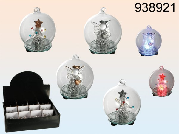 Christmas figures<br>in glass ball LED