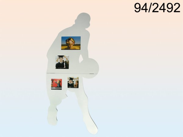 White Wood Picture<br> Frame, basketball<br>players