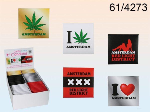 Latex Kondom<br> Amsterdam 5-fach<br>sortiert