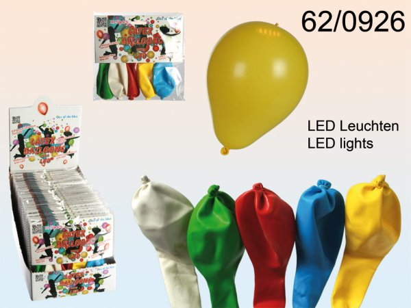 Latex balloons,<br>Party Light with LED