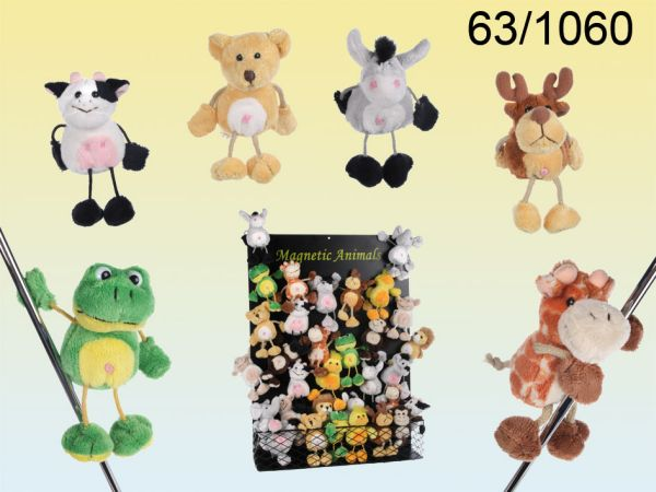 Soft plush magnet<br> zoo 10cm with<br>magnetic board