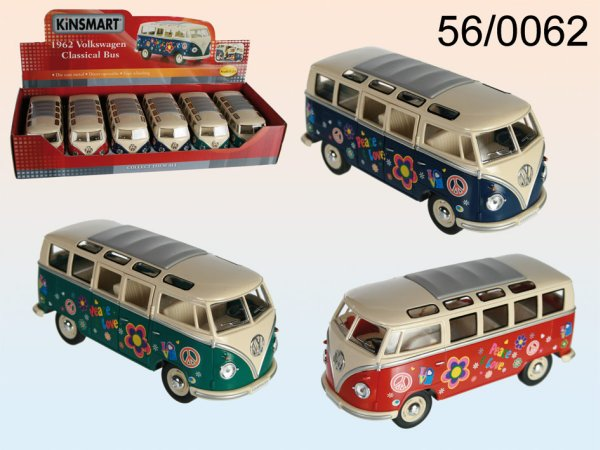 Metall-Auto, VW<br> Bus 1962, Flower<br>Power