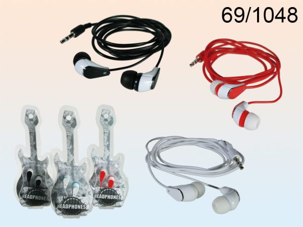 IN EAR Headphones<br> with 1.20 m cable,<br>Guitar