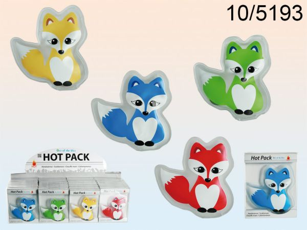 Hand warmers, fox,<br> about 10 cm, 4<br>assorted,