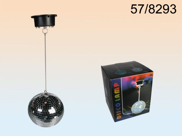 Mirror ball, D: 20<br>cm, with 8 LED