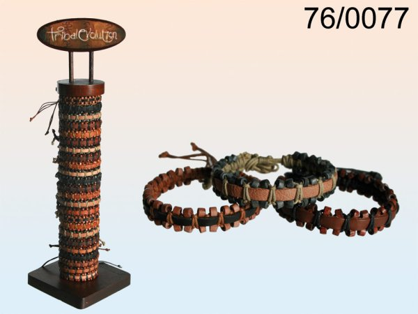 Leather bracelet,<br> ethnic style<br>Closeouts