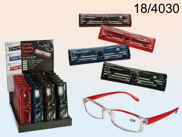 Reading glasses<br> with plastic<br>frame, Trendy