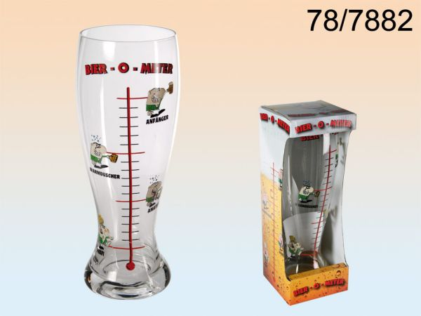 Beer Glass,<br> Beer-O-Meter, for<br>about 1.2 liters