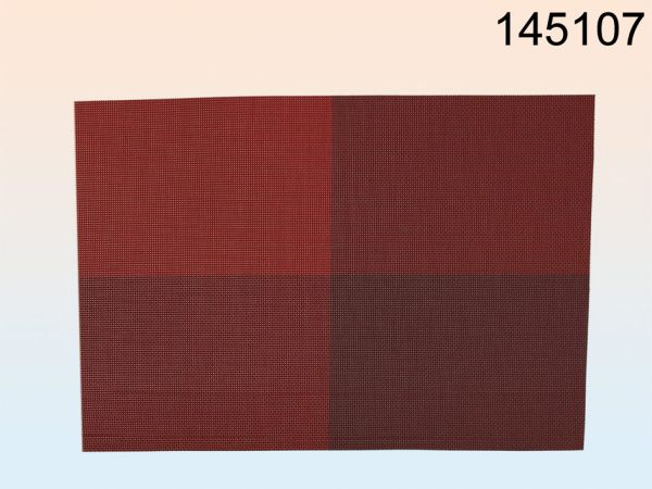 PVC-Tischset rot,<br>ca. 45 x 30 cm