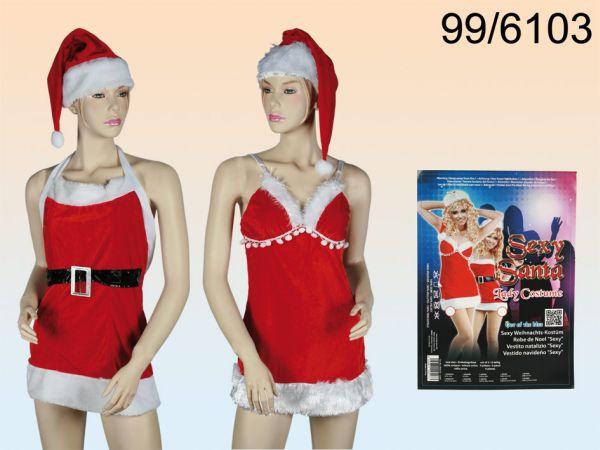 Sexy Christmas<br>Costume, 5-piece,