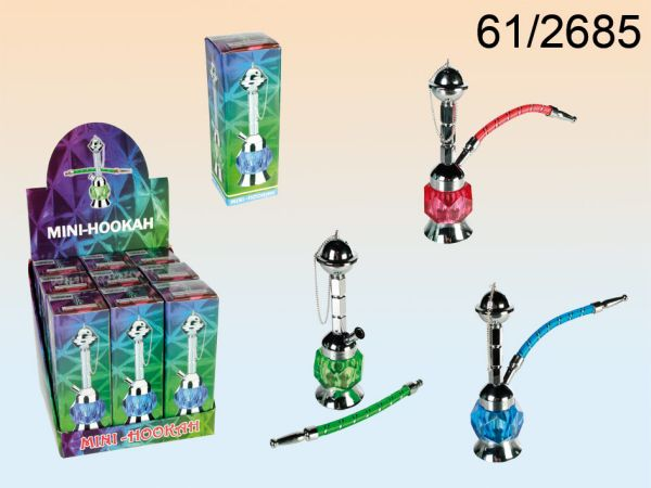 Sorted mini<br> hookah, about 18<br>cm, 3-fold