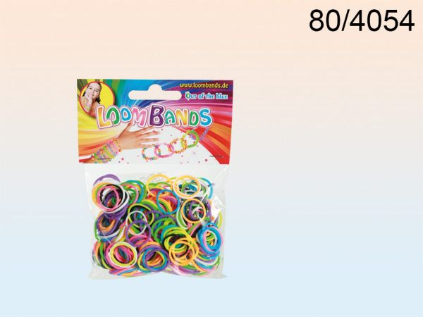 Rubber Bracelet<br> Set, Loom Bands<br>III, 8 colors