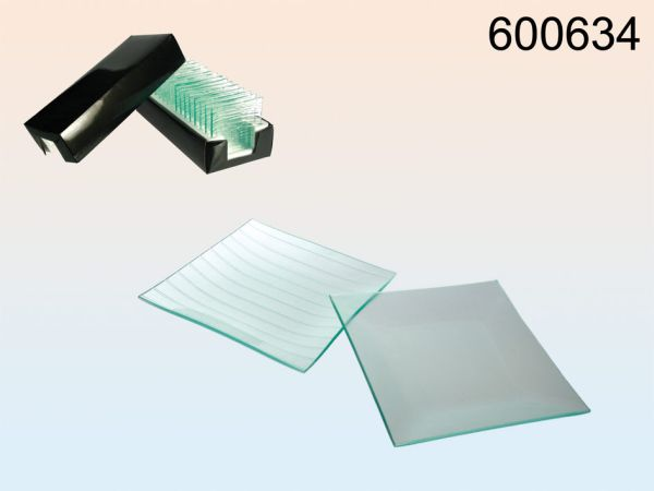Glasuntersetzer,<br> transparent, ca.<br>12 x 12 cm