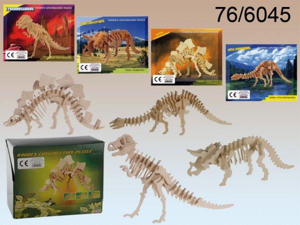 Natural wood 3D<br> Puzzle, Dinosaur<br>skeleton I,
