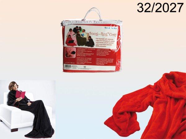 Rote Kuscheldecke<br>mit Ärmeln & Tasche