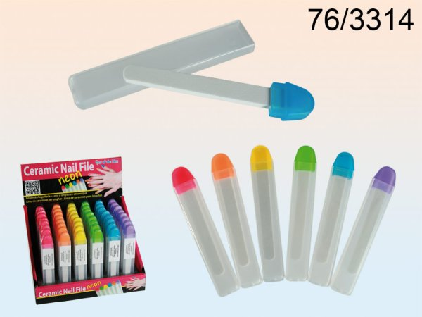 Ceramic nail file,<br>Neon Colours