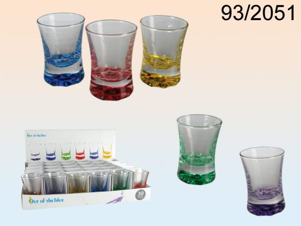 Shooter glasses,<br> Colours, for about<br>50 ml