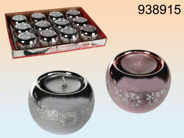 Round ceramic<br>candle holder